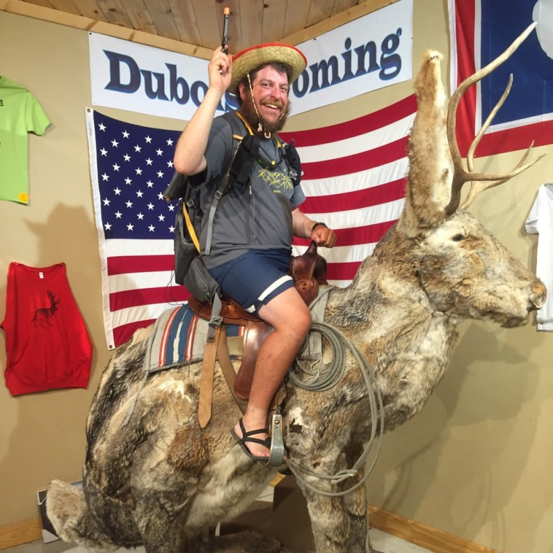 Nothing says America more than riding a giant Jackalope in Dubois, WY